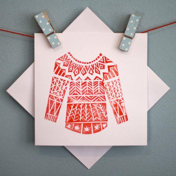 Linocut Nordic sweater
