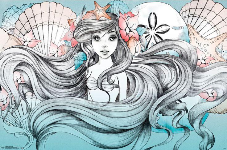 mermaid and shells