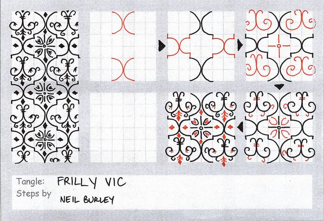 zentangle patterns step by step | Zentangle Instructions - a gallery on Flickr