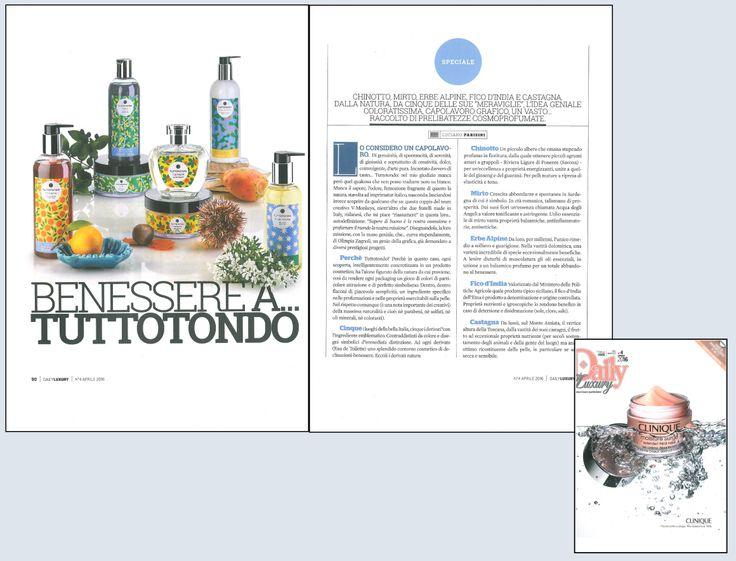 Benessere a Tuttotondo... il nuovo marchio di prodotti made in Italy svelato su Daily Luxury