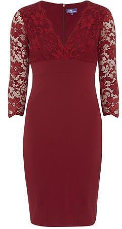Womens carmine bodycon dress from Dorothy Perkins - £55 at ClothingByColour.com