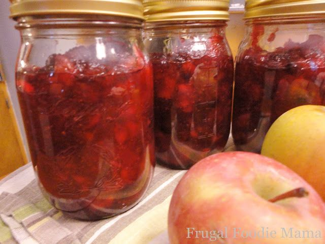 Cranberry jam, Spiced apples and Cinnamon on Pinterest