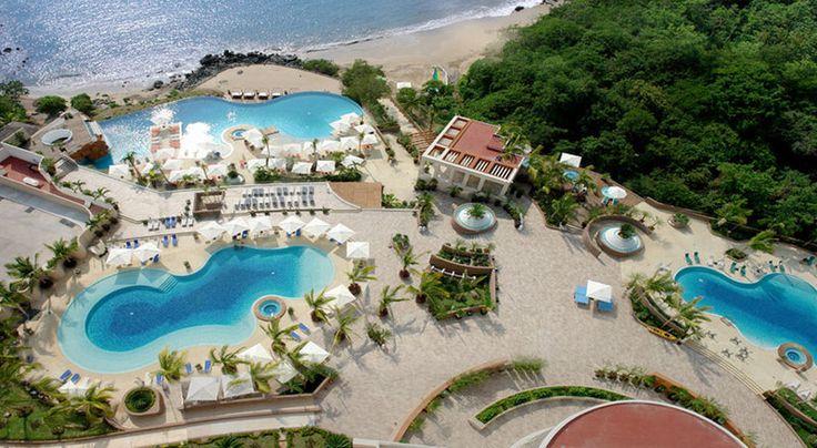 Pool aerial view at  Azul Ixtapa Grand in Mexico - #travel
