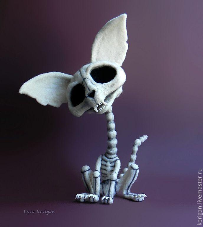 Купить Кладбище домашних животных - белый, кости, скелет, кот, труп, прикол, скелет кошки