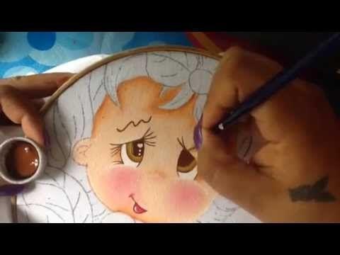 Pintura en tela niña mango # 3 con cony - YouTube
