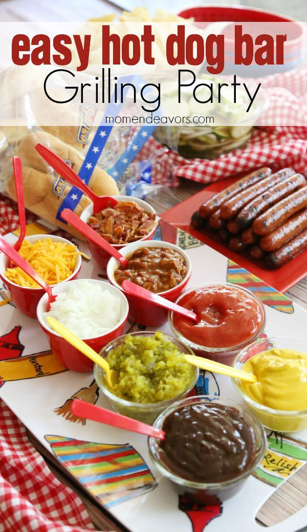 Create an easy hot dog bar for your next grilling party! #FinestGrillathon [sponsored]