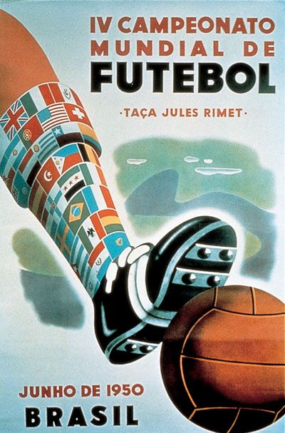 1950 World Cup Brazil Poster #football #soccer