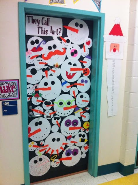 Snowmen! What a cute school craft idea