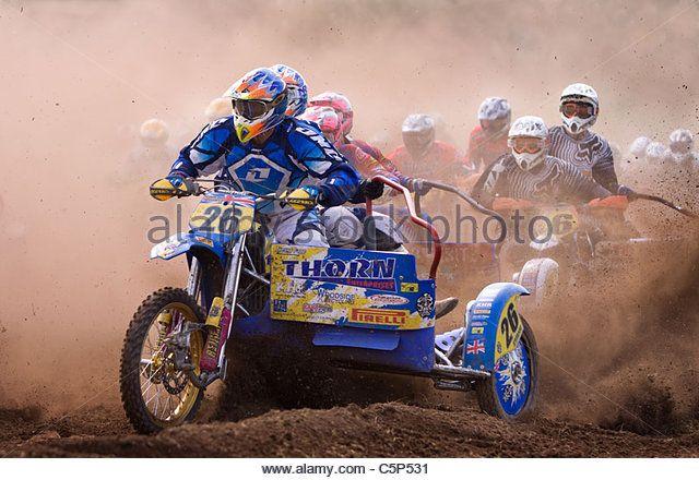 Sidecar Motocross Racing Stock Photos & Sidecar Motocross Racing ...