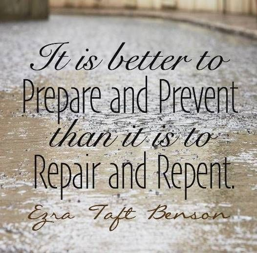 """Do not be misled by Satan's lies. It is better to prepare and prevent than it is to repair and repent. The first line of defense is to prepare ourselves to resist temptation and prevent ourselves from falling into sin."" From #PresBenson's http://pinterest.com/pin/24066179230010164 inspiring message http://lds.org/new-era/1988/01/the-law-of-chastity #ShareGoodness"
