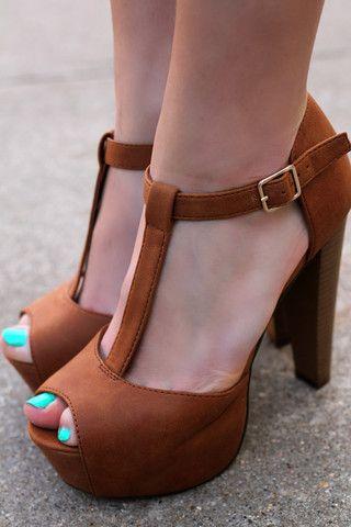 Tan Platform Heel Brina-21 | UOIOnline.com: Women's Clothing Boutique
