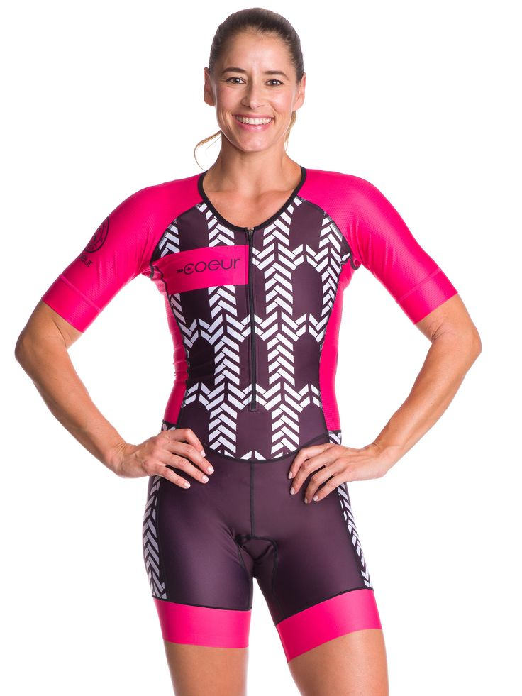 Women's Triathlon Suit with Sleeves For those who want the simplicity of a one piece speedsuit, this is your baby! It fits like a second skin. Featuring our revolutionary seamless chamois, the shorts