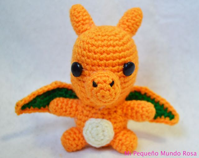 Amigurumi Pokemon Espanol : Mi pequeno mundo rosa ?: Charizard a Crochet: Patron en ...