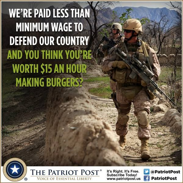Image result for soldiers police minimum wage