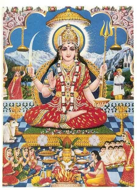 """Parvati es para la religión hindú, como expresan los textos del Ramayana y del Mahabahrata, la esposa de Shiva y madre de Ganesha y Skanda, y en algunas tradiciones la hermana de Vishnú. La palabra proviene del sánscrito Parvata que significa montaña por lo que su nombre quiere decir """"Ella la de la Montaña"""" y hace alusión a su condición de hija de Himavat, señor de las montañas y personificación de los Himalayas. Parvati es la diosa del poder o Shakti, y del amor y la devoc"""