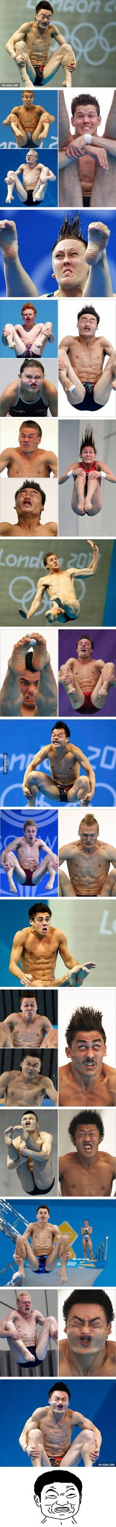 Faces of Olympic Divers