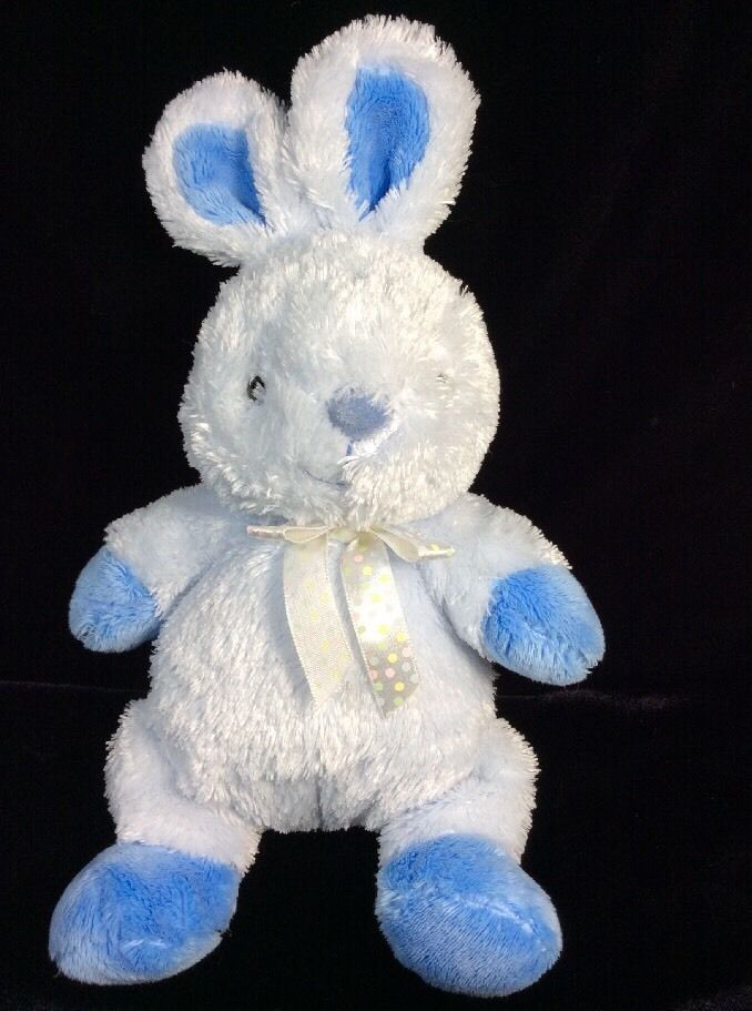 just one year blue bunny rabbit plush soft toy carters baby stuffed  justoneyear