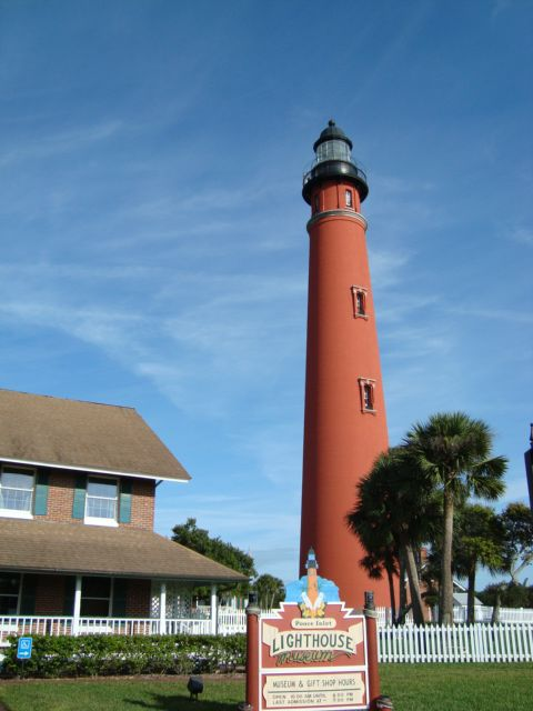Ponce Inlet lighthouse in the village of Ponce Inlet, Florida, south of Daytona Beach.