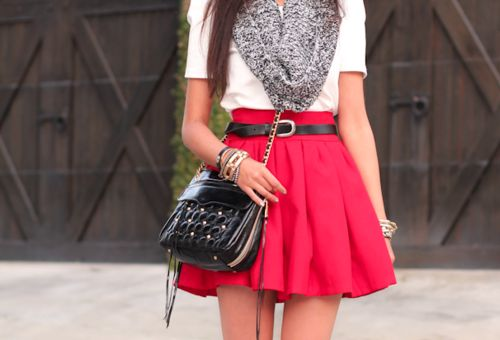 Love!Fashion, Style, Clothing, Colors, White Shirts, Outfit, Circles Skirts, Belts, Dreams Closets