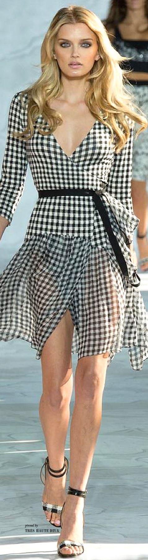 Black and white gingham check dress ~ Diane von Furstenberg - Spring/Summer Collection 2015 RTW...x