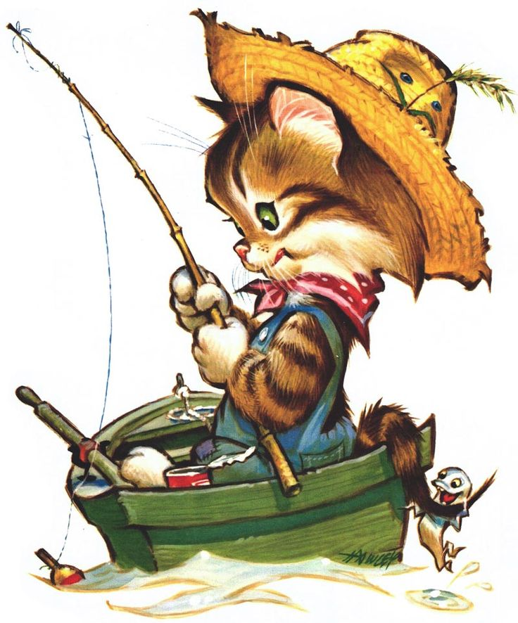 Suggested greeting: Let's do some fishin' this weekend!   American Greetings card by Pete Hawley