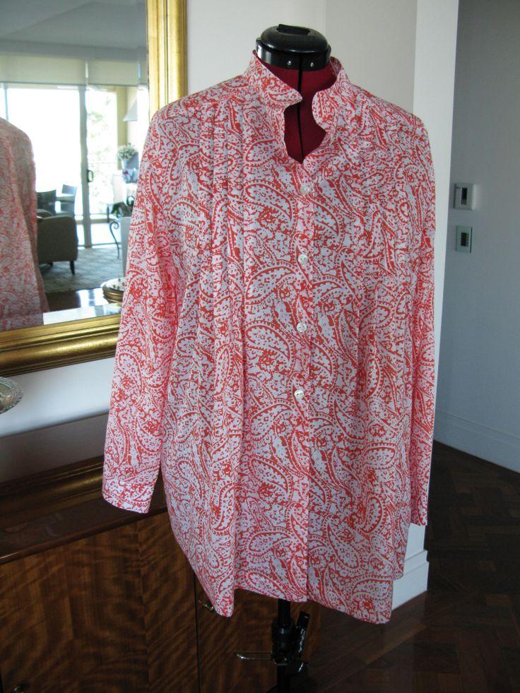 Cotton voile pleated shirt - Burda pattern