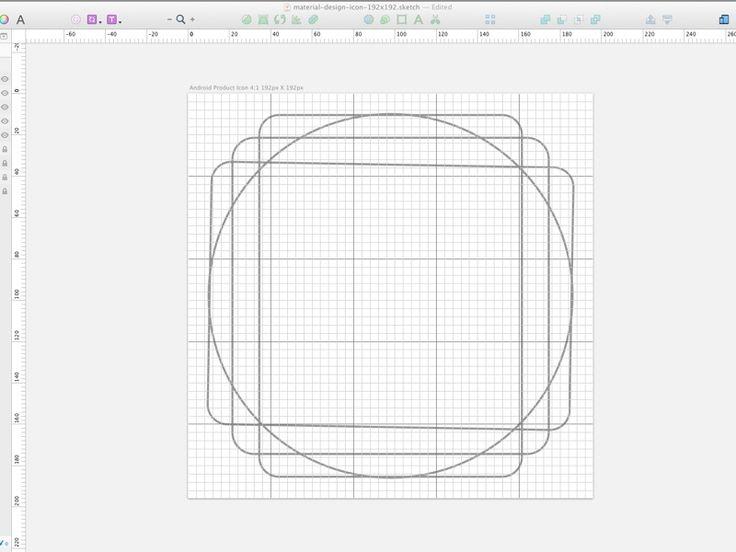 Material Design icon grid template