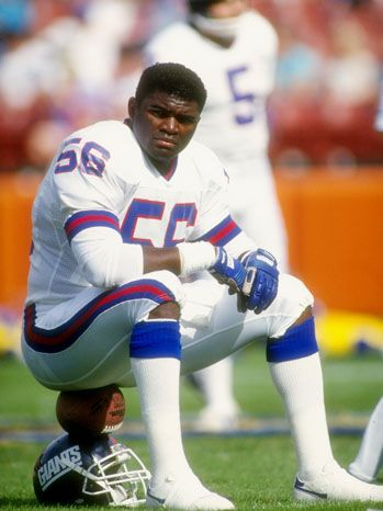 "Lawrence ""L.T."" Taylor played his entire professional career with the New York Giants franchise as a linebacker, earning a widely held reputation as one of the greatest players in the history of the sport"