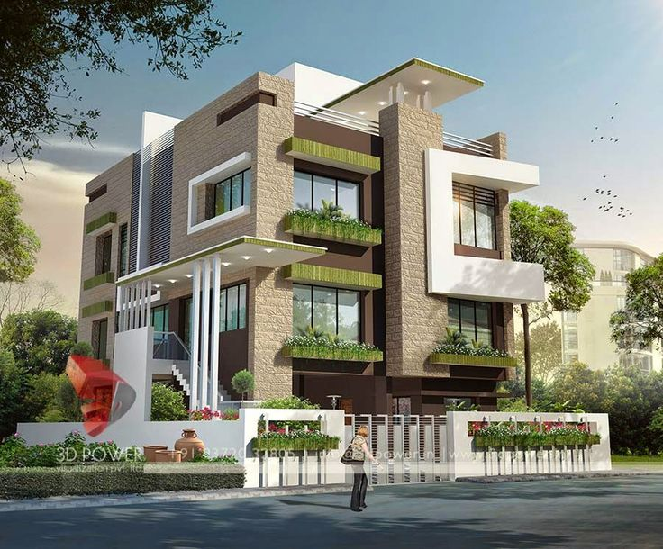 3d modern exterior house designs 5 design a house for Indian home exterior design photos middle class