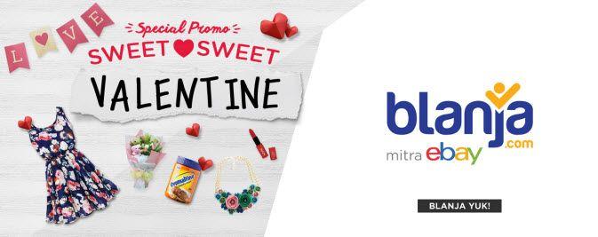 Rayakan hari valentine dengan menikmati promo valentine di blanja.com dan berikan cinta untuk semua di hari kasih sayang nanti.