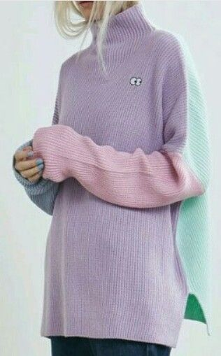 Knitted sweater. Colored.
