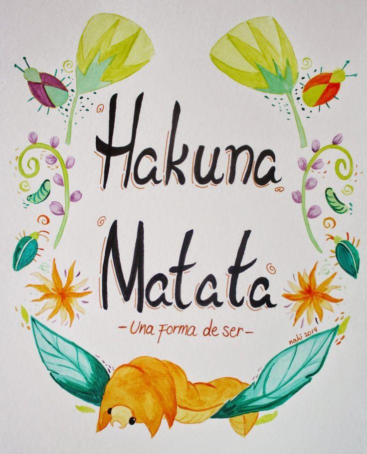 Hakuna matata watercolor by Luna Oteíza (Nalú)
