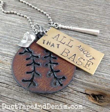 All About that Base baseball necklace by DuctTapeAndDenim.com