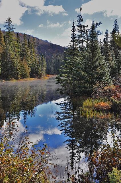 Beautiful reflection, Michipicoten, Ontario, California