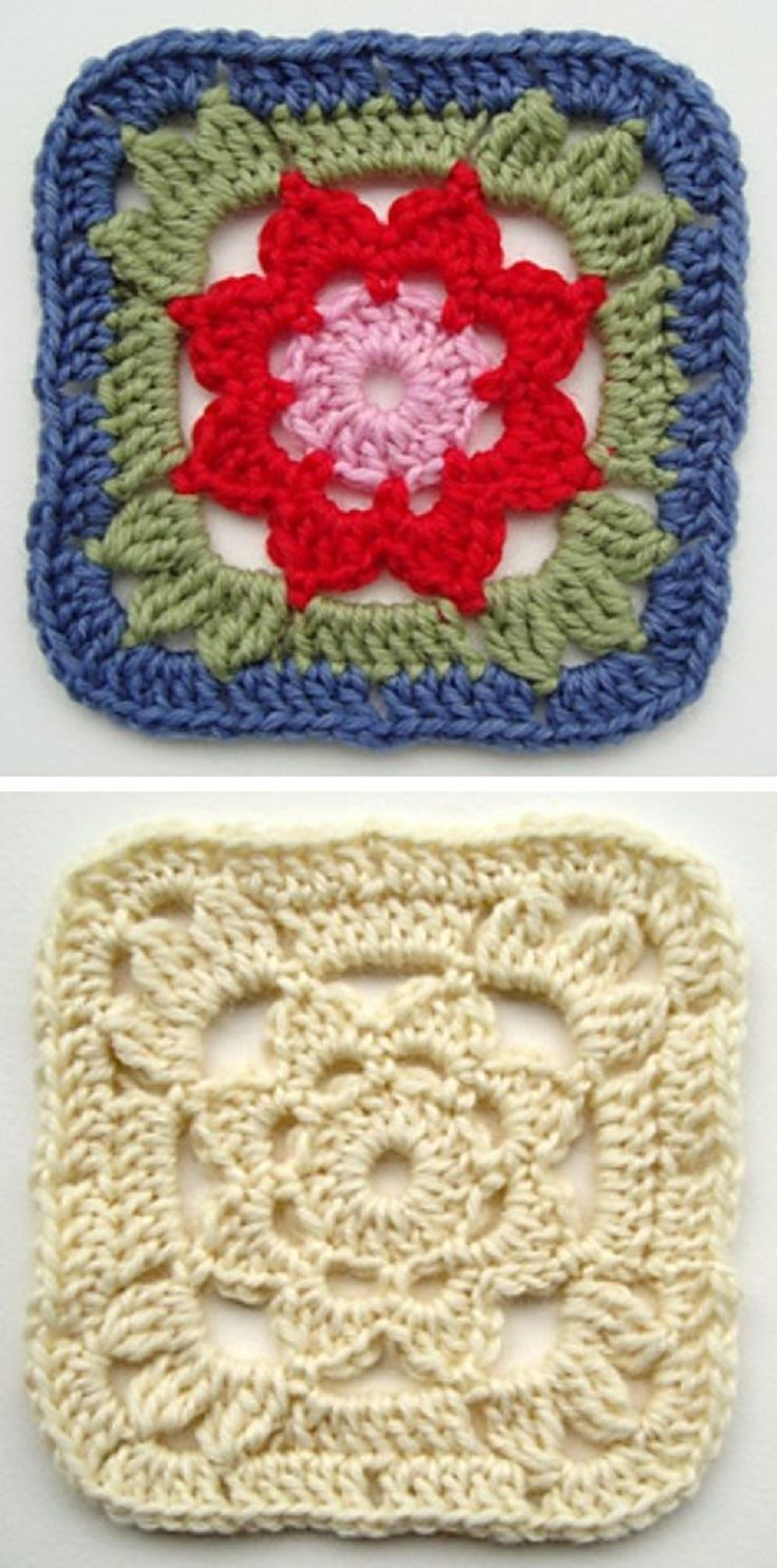 Granny-Square-with-a-Flower                                                                                                                                                                                 More