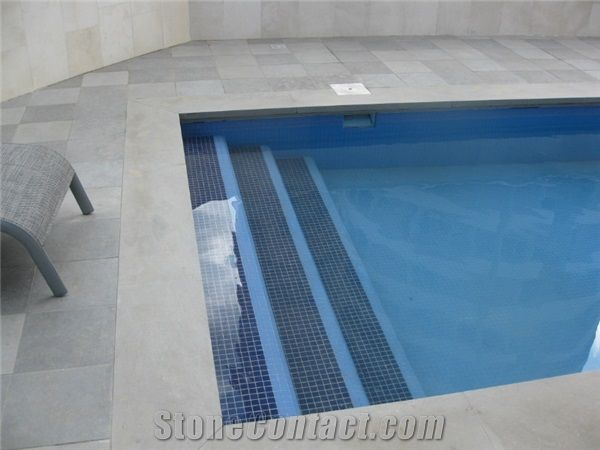 Pool Coping Pavers Jerusalem Grey Limestone Pool Coping
