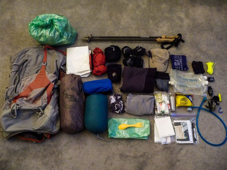 Packing list contents for the West Coast Trail