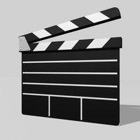3d movie clapboard model