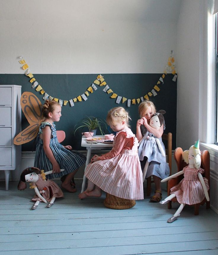 tea party with your dolls. perfect summer staycation activity. @mer_mag + @wrenandjames