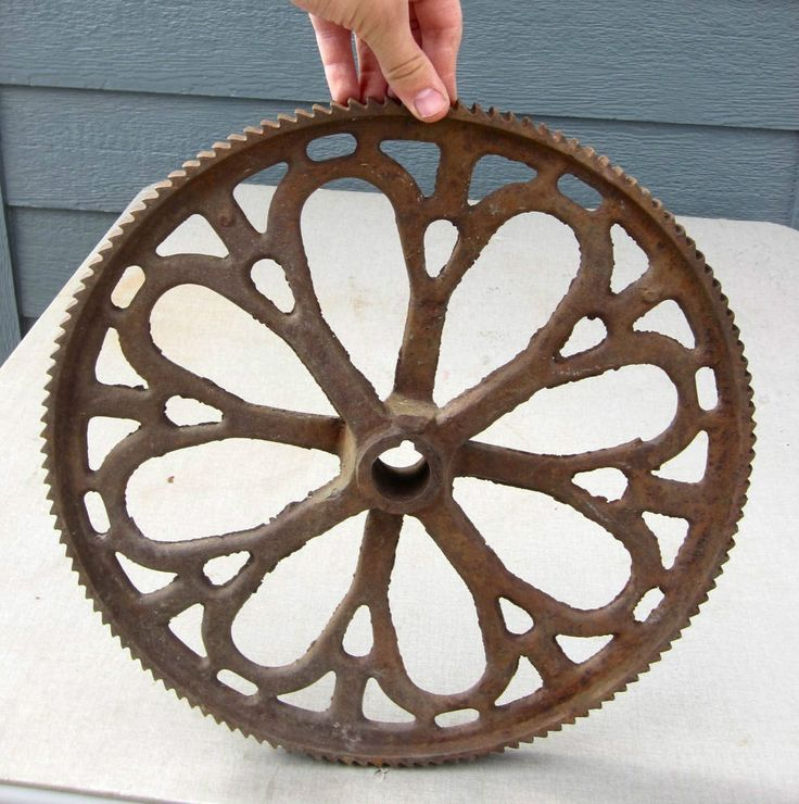 Cast Iron Wheels And Gears : Images about architectural salvage design on