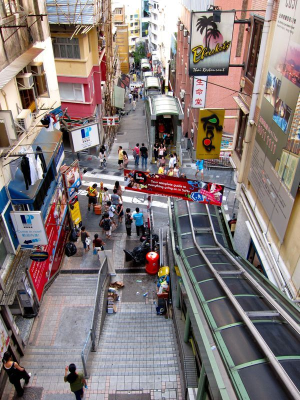 Central to Midlevels Escalator, Hong Kong
