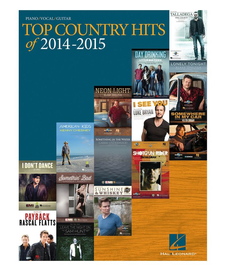 Another great find on #zulily! Top Country Hits of 2014-2015 Piano Songbook by Hal Leonard #zulilyfinds
