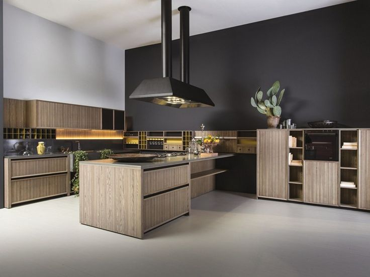 Fitted Kitchen With Peninsula LIGNUM PENINSULA By Comprex Design MARCONATO