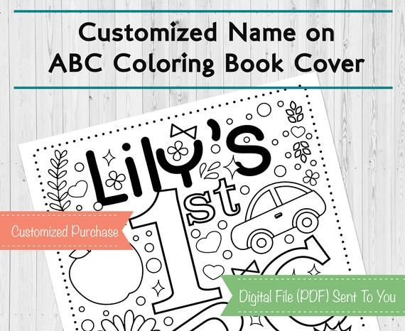 Customized Baby S First Abc Coloring Book Baby Shower Etsy Abc Coloring Abc Coloring Pages Baby Shower Book