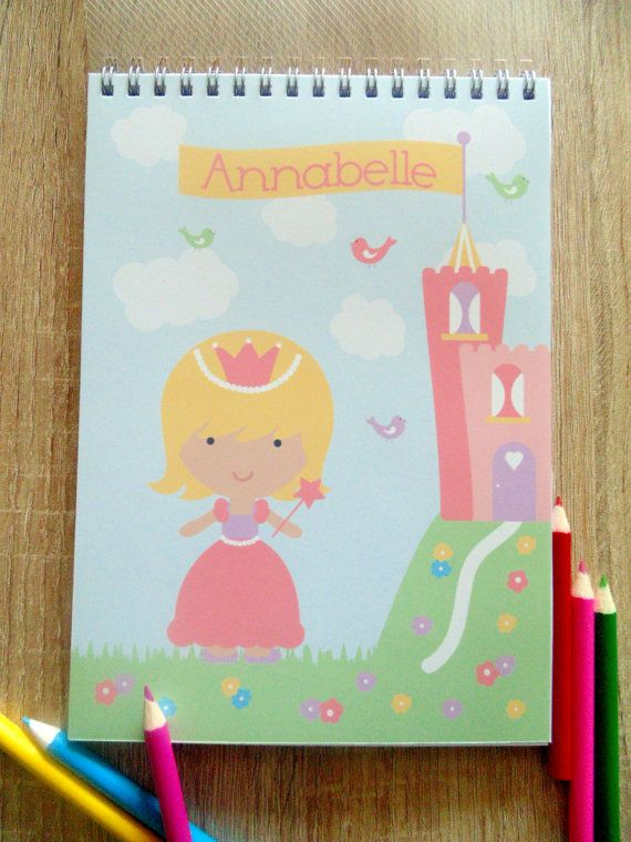 Princess and Castle girls Spiral bound Notebook by JLWIllustration, £6.50