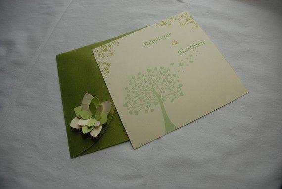 """faire part mariage """"nature-champêtre"""""""
