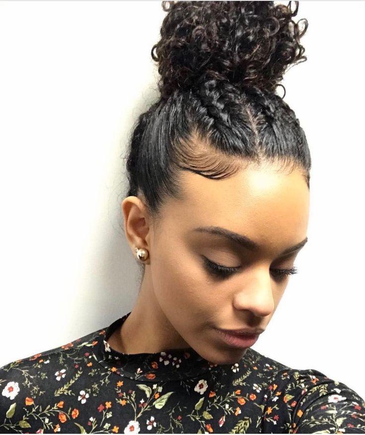 curly hair braids ideas