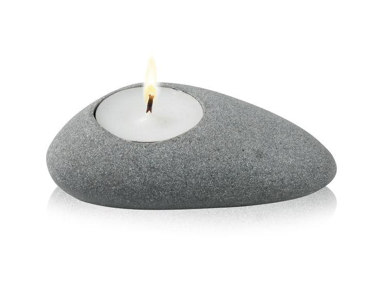 Świecznik LIGHTSTONE - jasnoszary - NUANCE - DECO Salon || #valentinesday #gift #giftidea