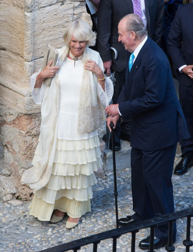 Camilla Parker Bowles was in royal company with King Juan Carlos I