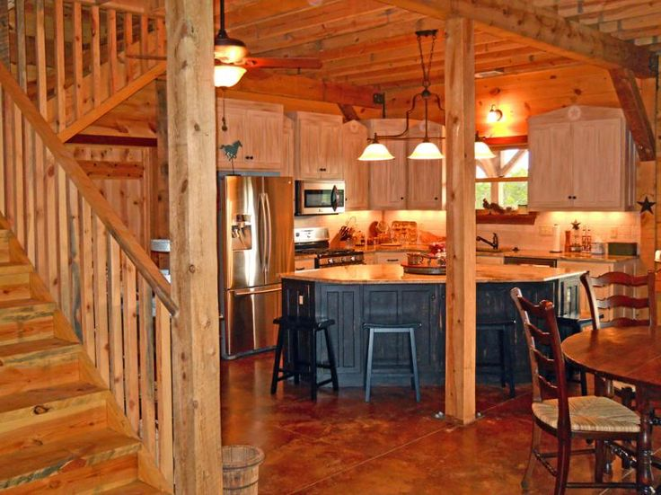 176 best images about all wood interiors on pinterest for Country barn builders